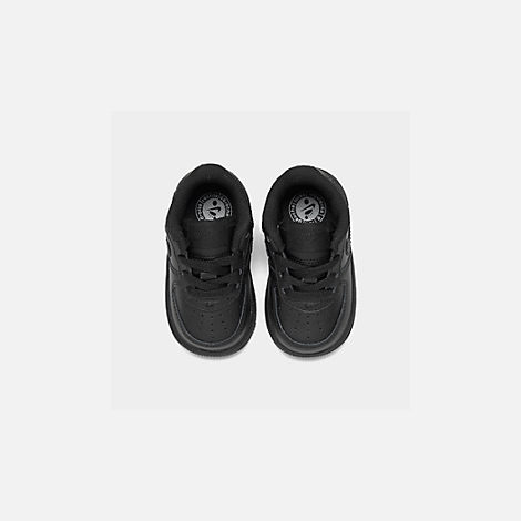 Back view of Kids' Toddler Nike Air Force 1 Low Casual Shoes in Black