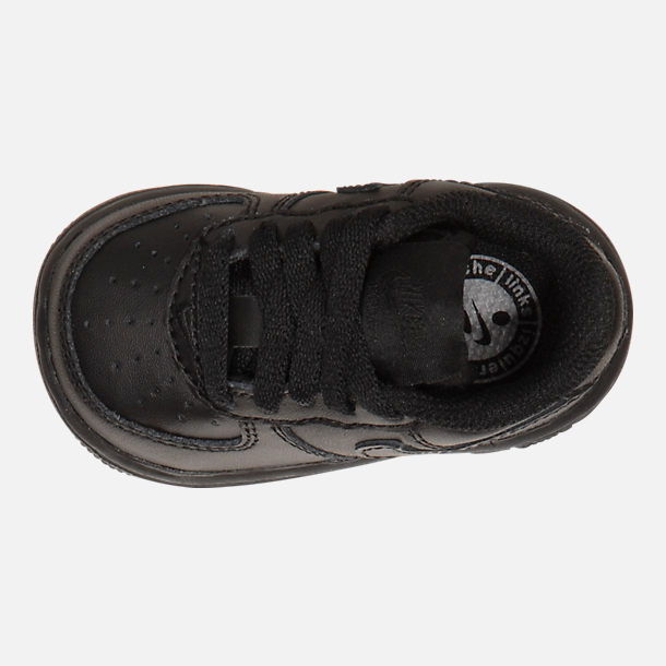 Top view of Kids' Toddler Nike Air Force 1 Low Casual Shoes in Black