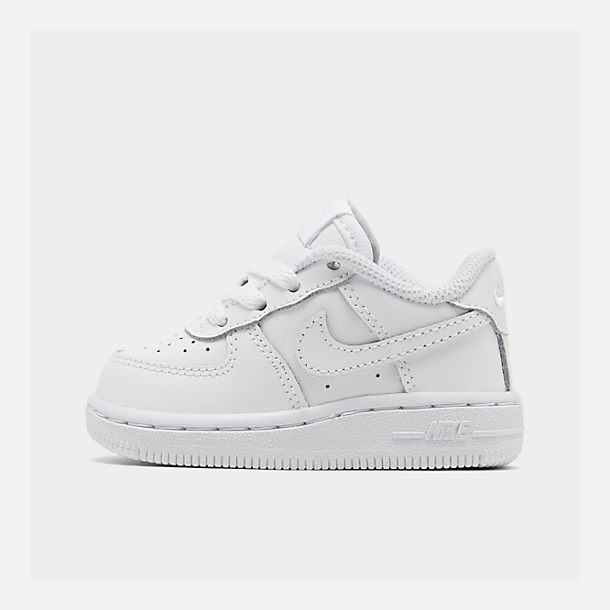 Right view of Kids  Toddler Nike Air Force 1 Low Casual Shoes in White 4313d0cf8147