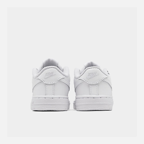 Left view of Kids' Toddler Nike Air Force 1 Low Casual Shoes in White