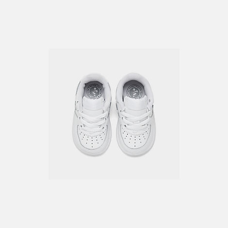 Back view of Kids' Toddler Nike Air Force 1 Low Casual Shoes in White