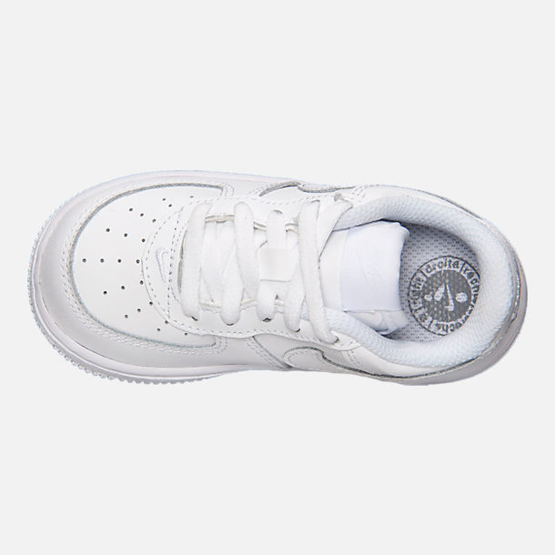 pick up 04974 6298d Top view of Kids  Toddler Nike Air Force 1 Low Casual Shoes in White
