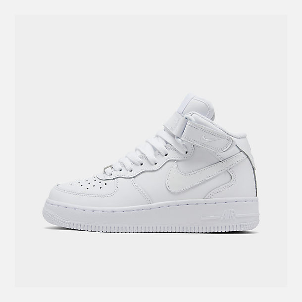 05ce5f425814 Right view of Big Kids  Nike Air Force 1 Mid Casual Shoes in White