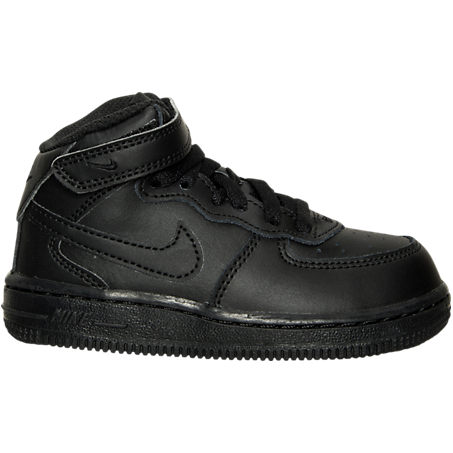 Nike Shoes NIKE TODDLER AIR FORCE 1 MID BASKETBALL SHOES IN BLACK SIZE 9.0 LEATHER