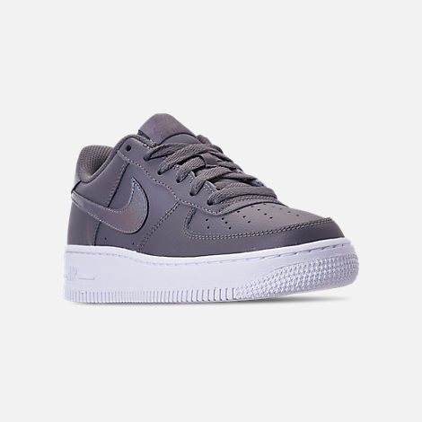 Three Quarter view of Girls' Grade School Nike Air Force 1 Low Casual Shoes