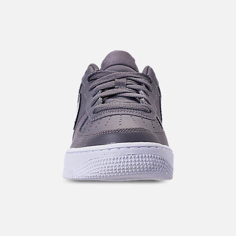 Front view of Girls' Grade School Nike Air Force 1 Low Casual Shoes