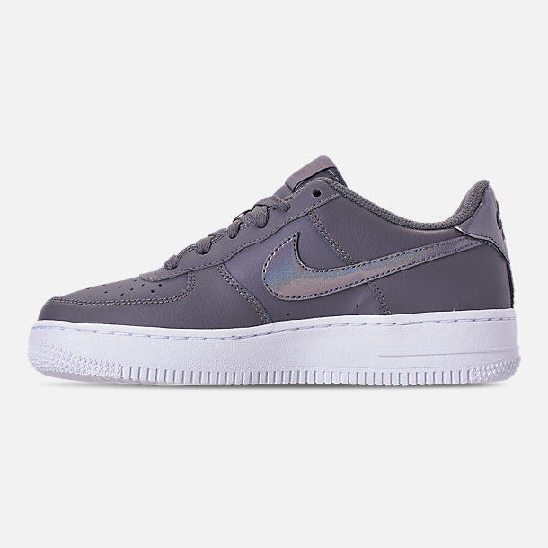 Left view of Girls' Grade School Nike Air Force 1 Low Casual Shoes