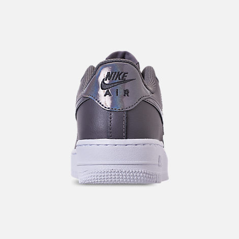 Back view of Girls' Grade School Nike Air Force 1 Low Casual Shoes