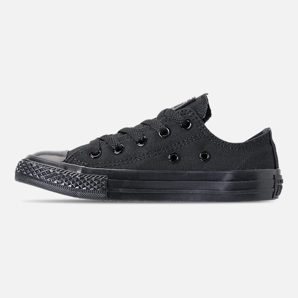 Left view of Boys' Little Kids' Converse Chuck Taylor Ox Casual Shoes in Black