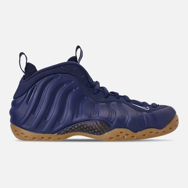 Right view of Men's Nike Air Foamposite One Basketball Shoes in Midnight Navy