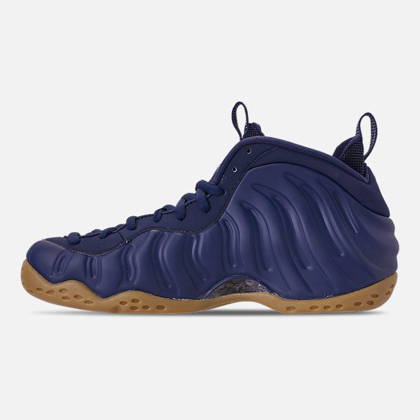 Left view of Men's Nike Air Foamposite One Basketball Shoes in Midnight Navy