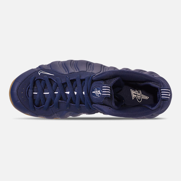 Top view of Men's Nike Air Foamposite One Basketball Shoes in Midnight Navy