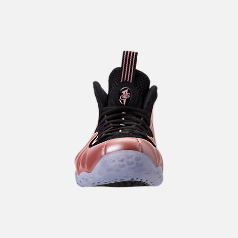Front view of Men's Nike Air Foamposite One Basketball Shoes in Elemental  Rose/Black