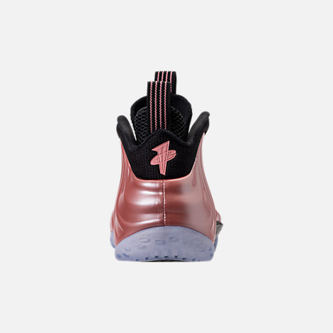 Back view of Men's Nike Air Foamposite One Basketball Shoes in Elemental Rose/Black