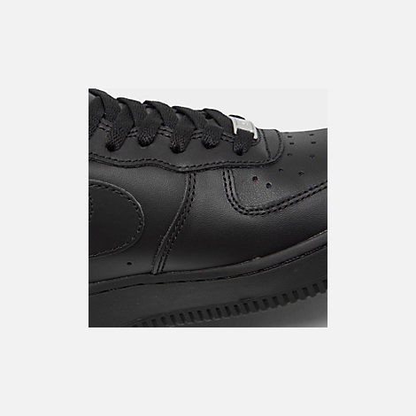 Front view of Women's Nike Air Force 1 Low Casual Shoes in Black/Black