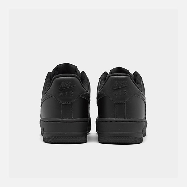 Left view of Women s Nike Air Force 1 Low Casual Shoes in Black Black 7692ee1e16