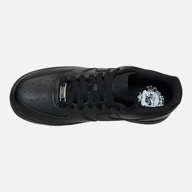 Top view of Women's Nike Air Force 1 Low Casual Shoes in Black/Black
