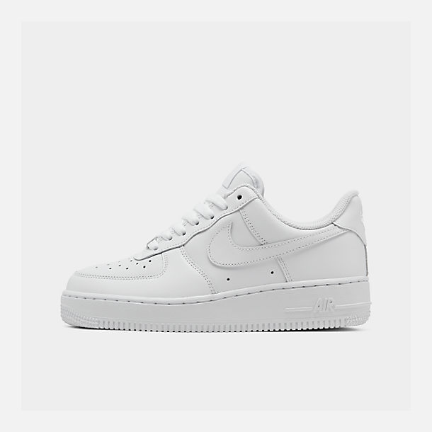 Right view of Women s Nike Air Force 1 Low Casual Shoes in White White  482b748812