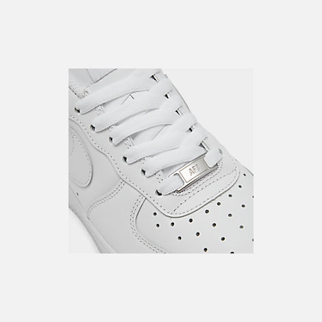 Front view of Women's Nike Air Force 1 Low Casual Shoes in White/White/White