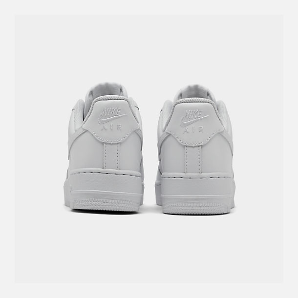 Left view of Women's Nike Air Force 1 Low Casual Shoes in White/White/White