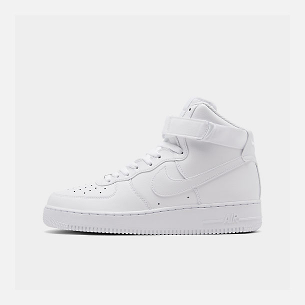 Right view of Men's Nike NBA Air Force 1 High 07 Casual Shoes in White/White