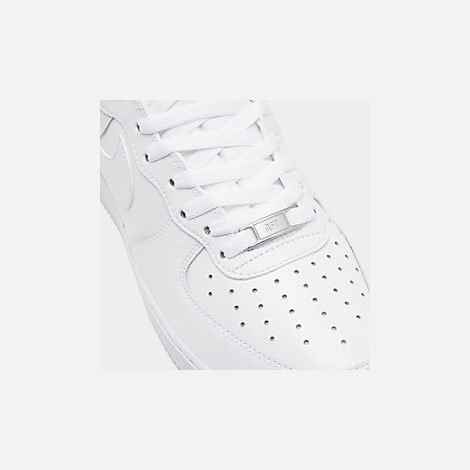 Front view of Men's Nike NBA Air Force 1 High 07 Casual Shoes in White/White