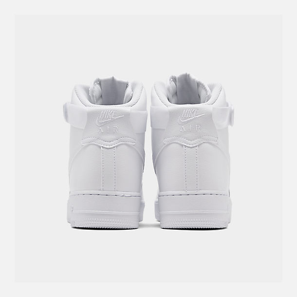 Left view of Men's Nike NBA Air Force 1 High 07 Casual Shoes in White/White