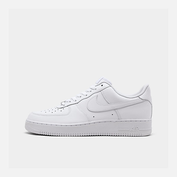 Right view of Men s Nike Air Force 1 Low Casual Shoes in White White 99df7b759