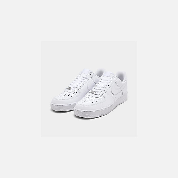 brand new dae3a 3f877 Three Quarter view of Men s Nike Air Force 1 Low Casual Shoes in White White