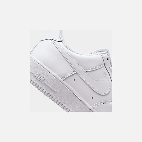 Front view of Men's Nike Air Force 1 Low Casual Shoes in White/White