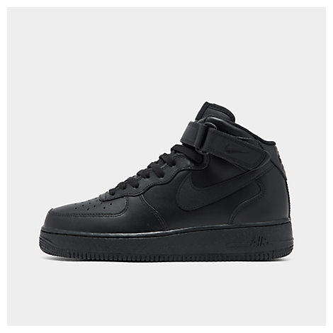 Men'S Air Force 1 Mid Casual Shoes, Black