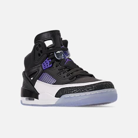 9dee7dfc125df8 Three Quarter view of Men s Air Jordan Spizike Off-Court Shoes in Black Dark