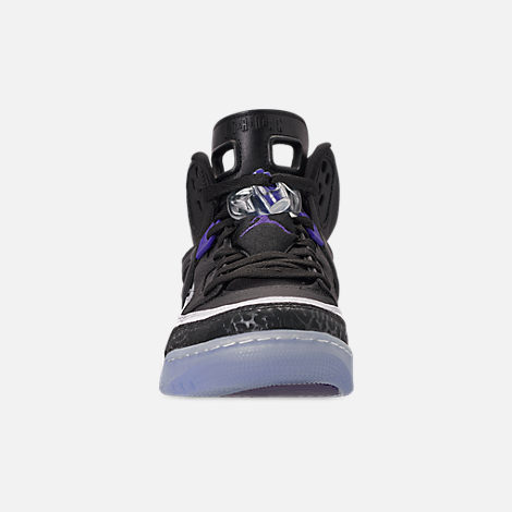 low priced 1f0a7 245a4 Front view of Men s Air Jordan Spizike Off-Court Shoes in Black Dark Concord