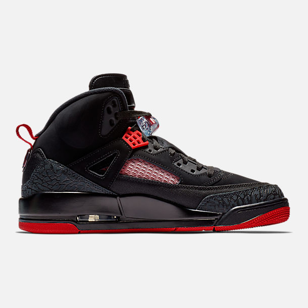 Right view of Men's Air Jordan Spizike Off-Court Shoes in Black/Gym Red/Anthracite