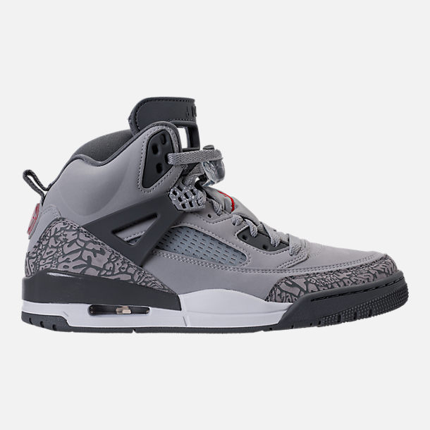 Right view of Men's Air Jordan Spizike Off-Court Shoes in Wolf Grey/Cement Grey/White