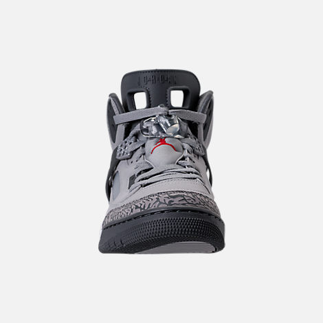Front view of Men's Air Jordan Spizike Off-Court Shoes in Wolf Grey/Cement Grey/White