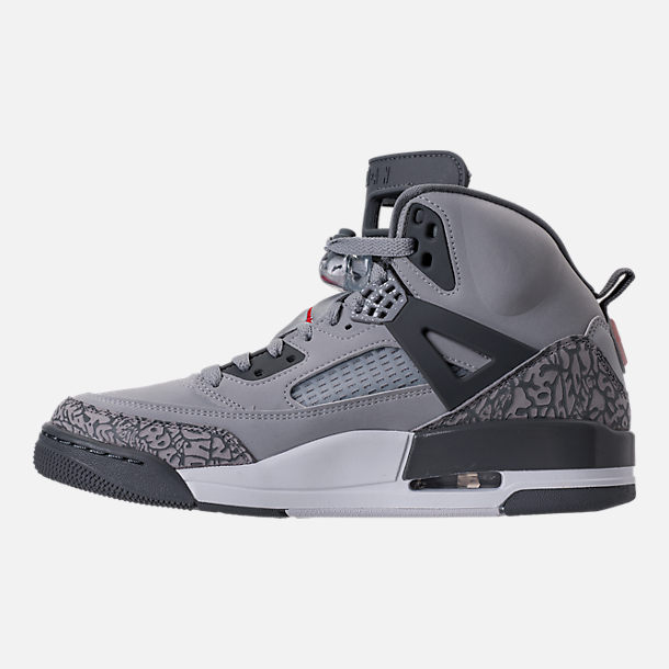 Left view of Men's Air Jordan Spizike Off-Court Shoes in Wolf Grey/Cement Grey/White