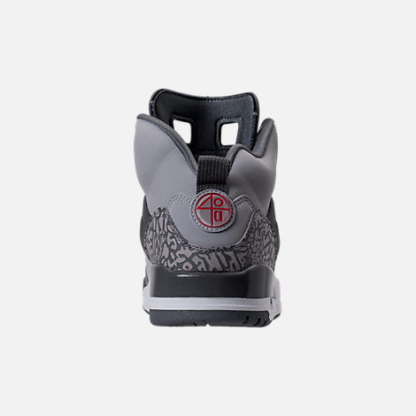 Back view of Men's Air Jordan Spizike Off-Court Shoes in Wolf Grey/Cement Grey/White
