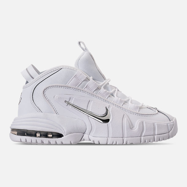 c327cb0375bed8 Right view of Boys  Big Kids  Nike Air Max Penny Basketball Shoes in White