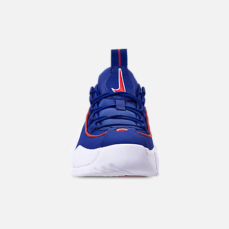 Front view of Boys' Grade School Nike Air Max Penny Basketball Shoes in Deep Royal Blue/Gym Red/White