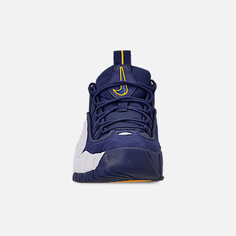 Front view of Boys' Big Kids' Nike Air Max Penny Basketball Shoes in Deep Royal/Amarillo/White