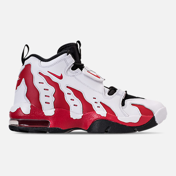 Right view of Men's Nike Air Diamond Turf Max '96 Training Shoes in White/Varsity Red/Black