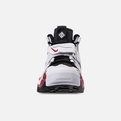 Front view of Men's Nike Air Diamond Turf Max '96 Training Shoes in White/Varsity Red/Black