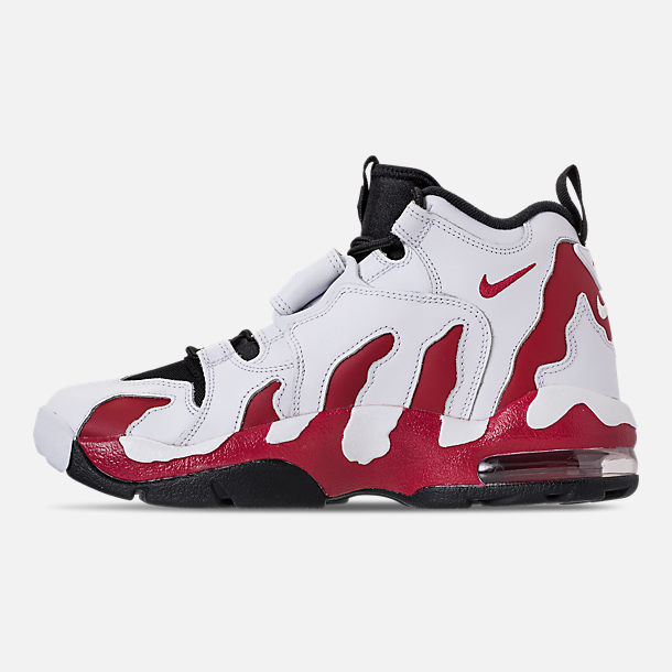 Left view of Men's Nike Air Diamond Turf Max '96 Training Shoes in White/Varsity Red/Black