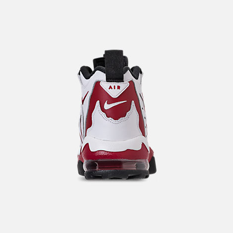 Back view of Men's Nike Air Diamond Turf Max '96 Training Shoes in White/Varsity Red/Black