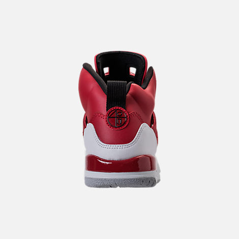 Back view of Boys' Grade School Jordan Spizike Basketball Shoes in Gym Red/Black/White/Wolf Grey