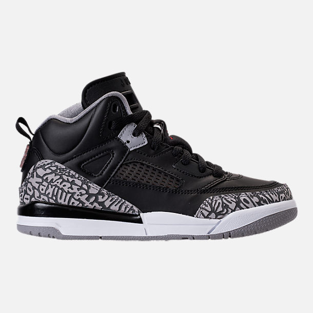 Right view of Kids' Preschool Jordan Spizike Basketball Shoes in Black/Varsity Red/Cement Grey