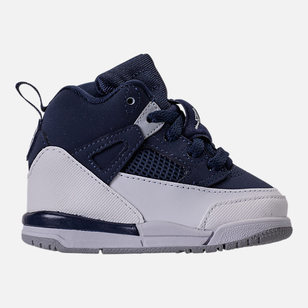 Right view of Kids' Toddler Jordan Spizike Basketball Shoes in Midnight Navy/Metallic Silver