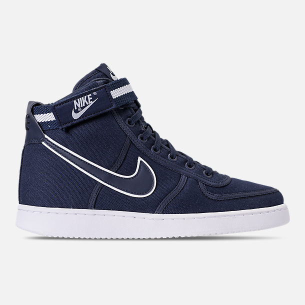 Right view of Men's Nike Vandal High Supreme Casual Shoes in ObsidianWhite