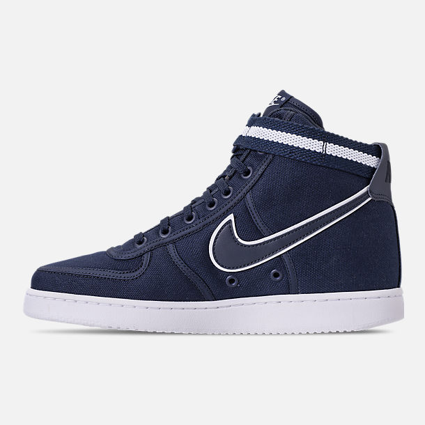 Left view of Men's Nike Vandal High Supreme Casual Shoes in ObsidianWhite